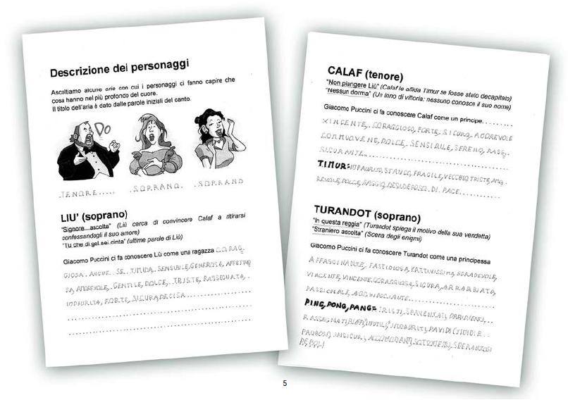 i bambini de la zolla analizzano la storia della Turandot