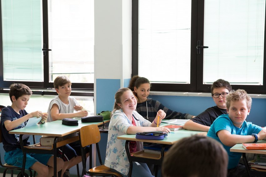 inizio anno scuola secondaria la zolla di Milano