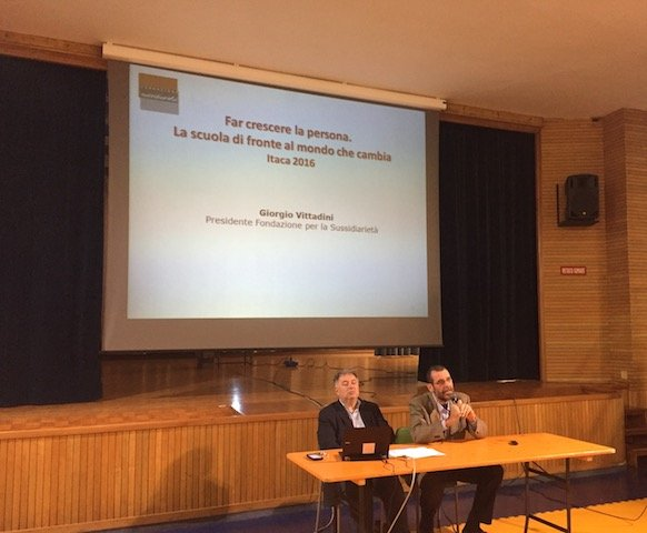 alla scuola La Zolla si è tenuto un incontro con il prof Giorgio Vittadini