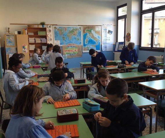 scuola primaria La Zolla Piazzale Brescia geometria