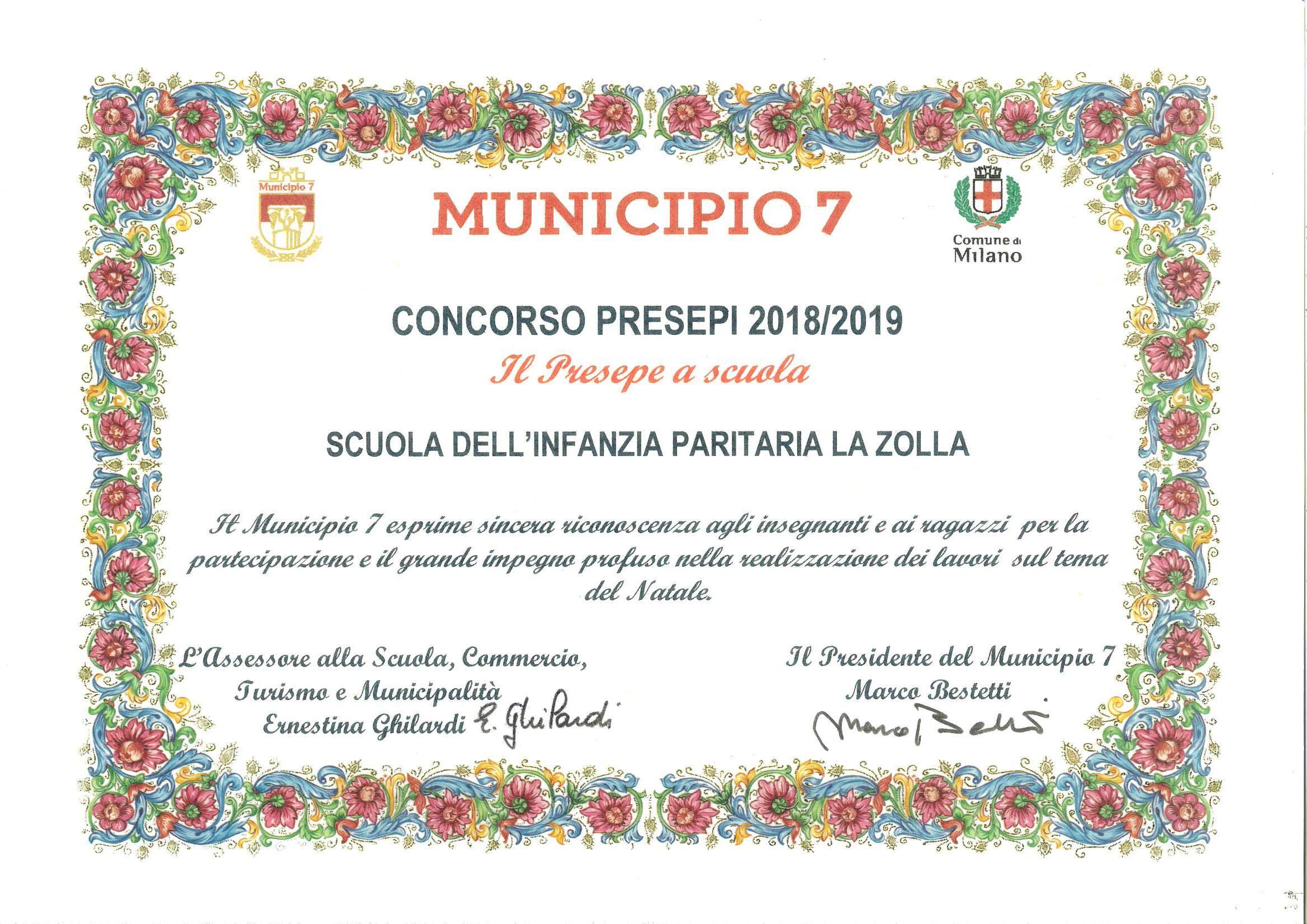concorso presepe Municipio 7